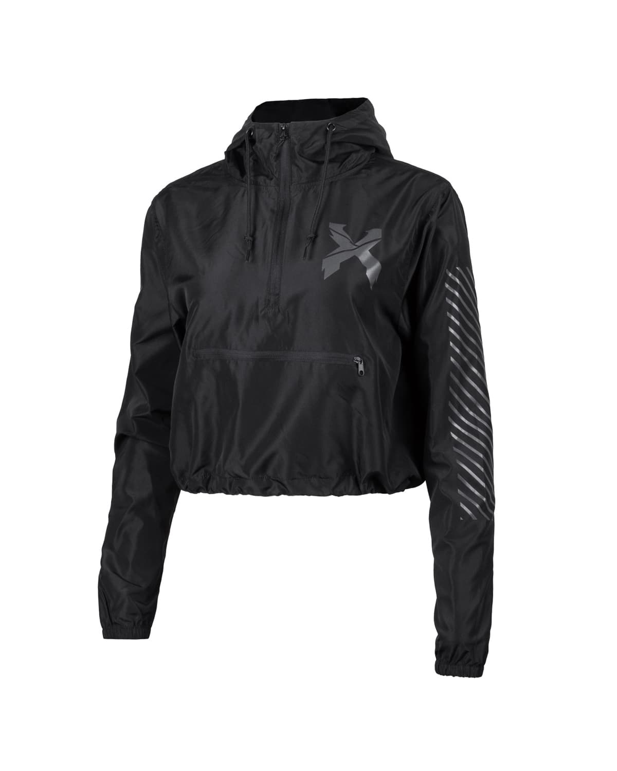 Excision Women's 'Sliced' Logo Reflective Lightweight Crop Anorak Jacket