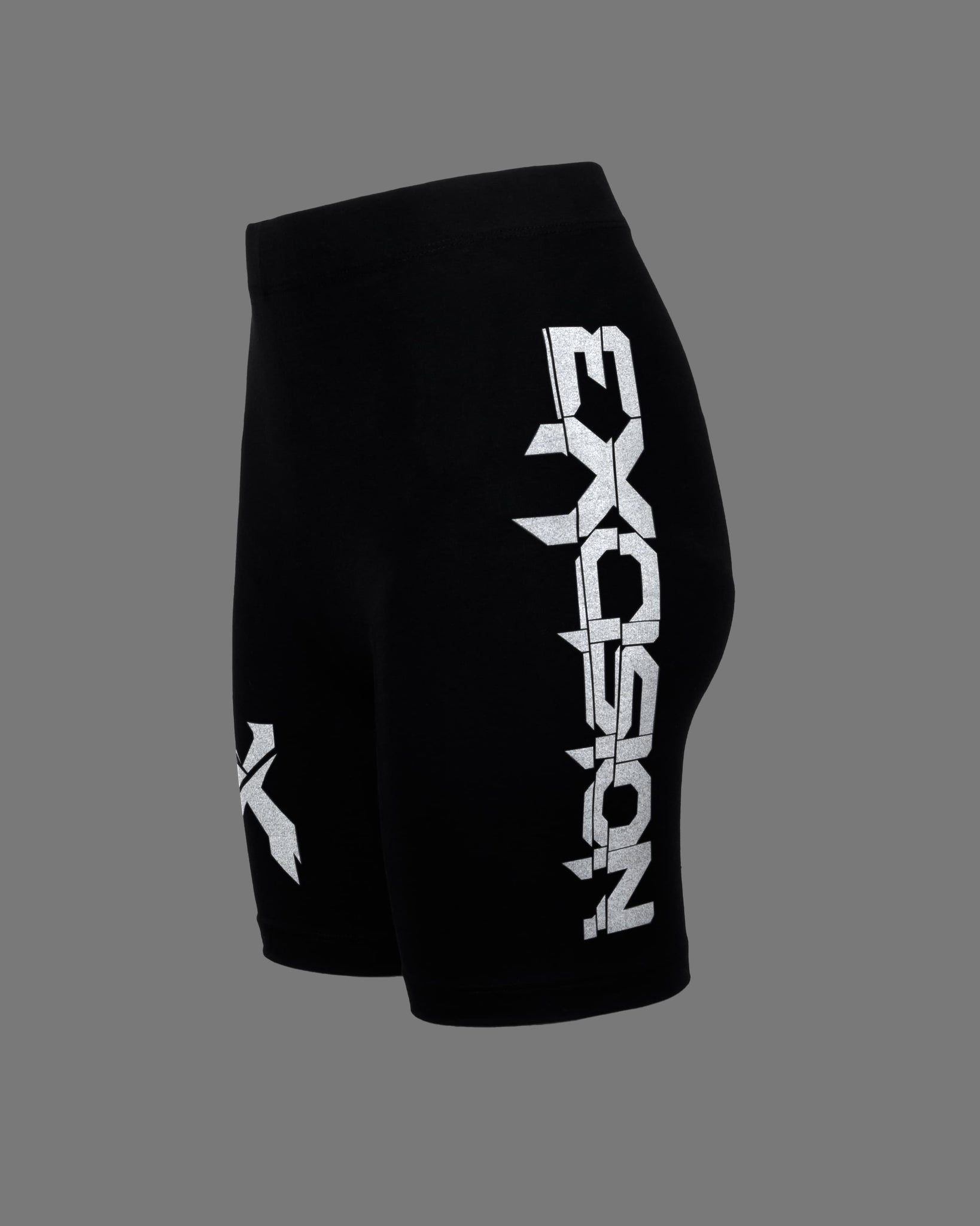 Excision 'Sliced' Logo Women's Reflective Bike Shorts