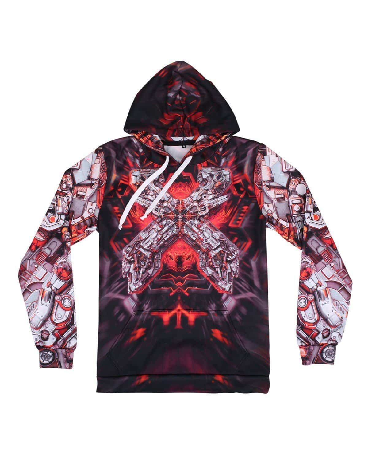 Excision 'The Paradox 2017' Dye Sub Hoodie - Black/Red