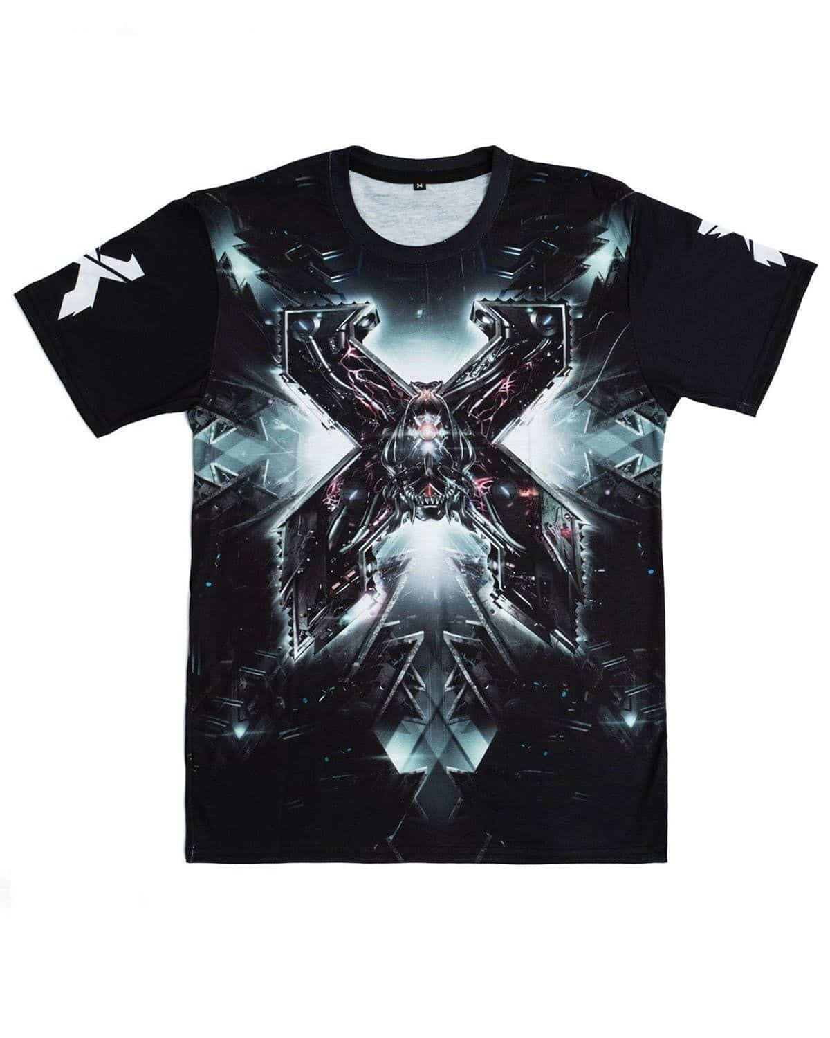 Excision 'The Paradox 2018' Dye Sub Tour T-Shirt - Black/Grey