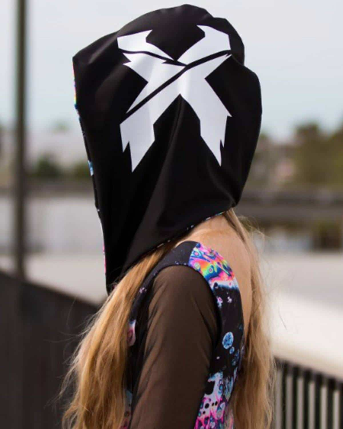 Excision Unisex Acid Sky Spandex Assassin Hood by Freedom Rave Wear