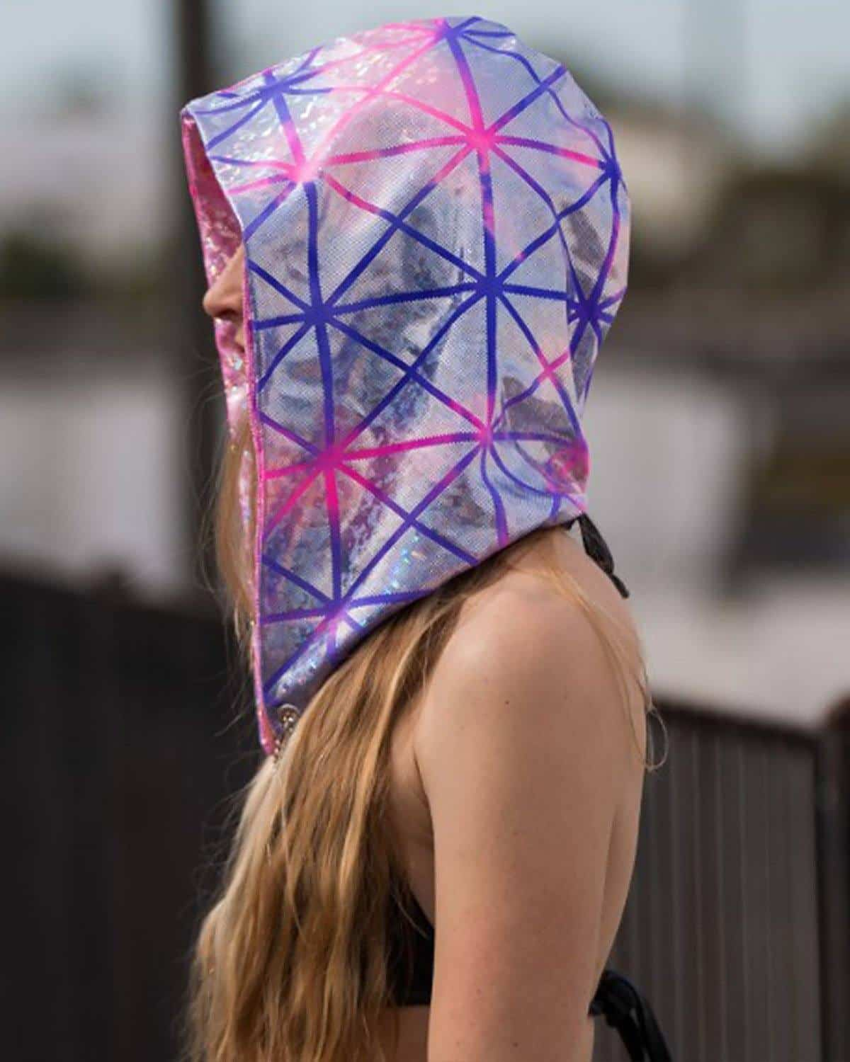 Excision Unisex Rock Candy Spandex Assassin Hood by Freedom Rave Wear