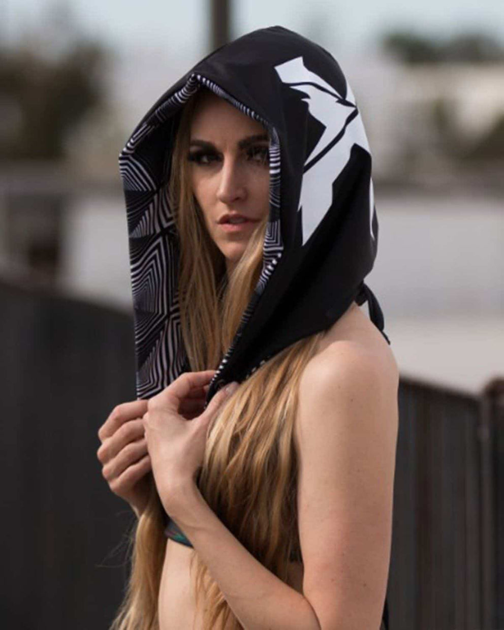 Excision Unisex Space Geo Spandex Assassin Hood by Freedom Rave Wear