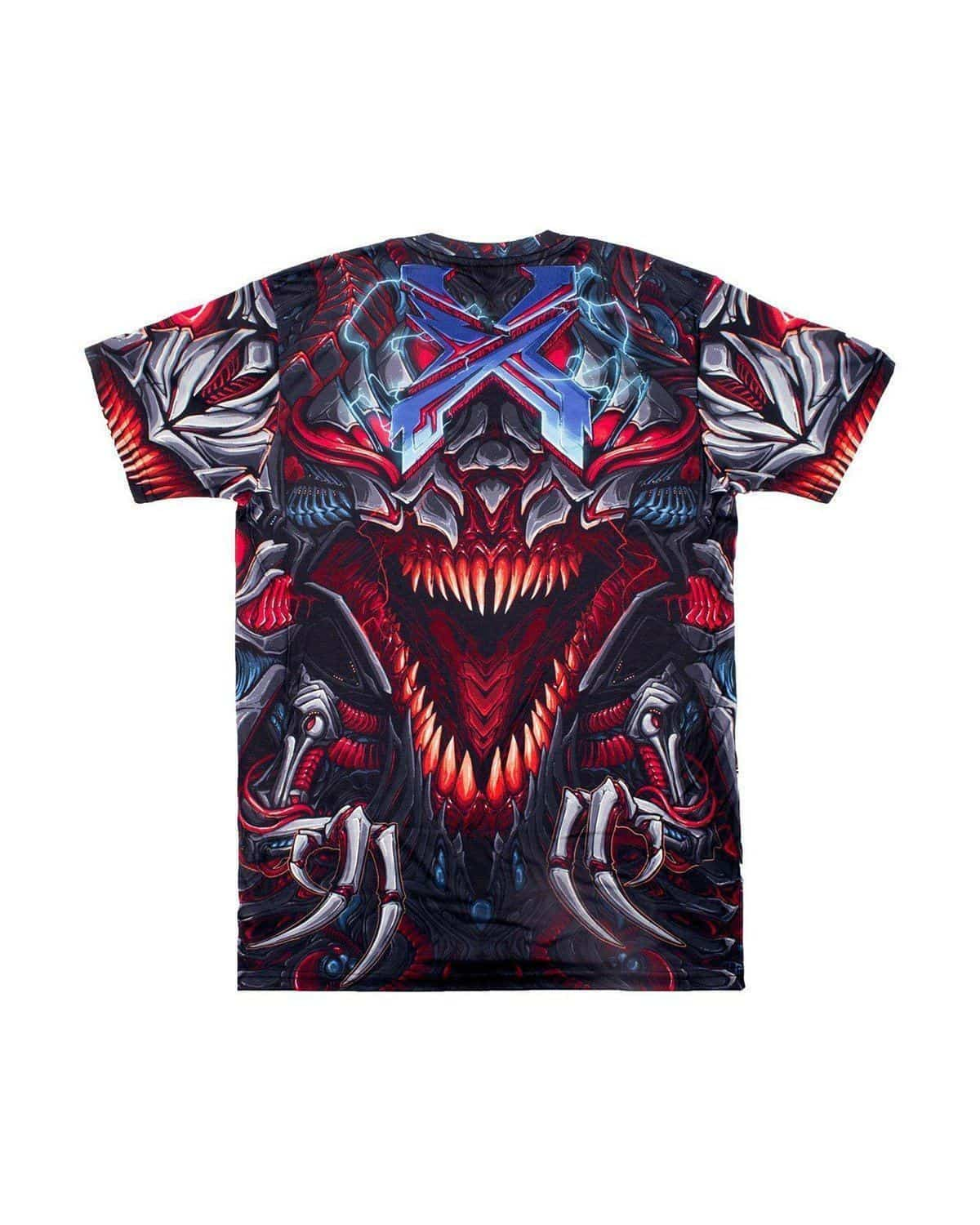 Excision 'Venom Armor' 2018 Tour T-Shirt - Red/Grey