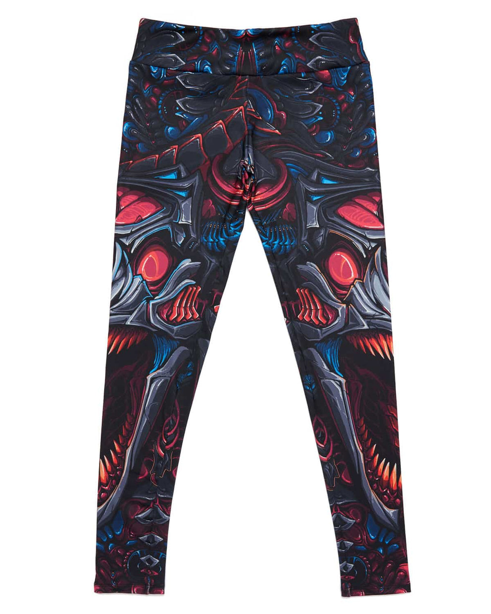 Excision 'Venom' Leggings - Blue Chrome