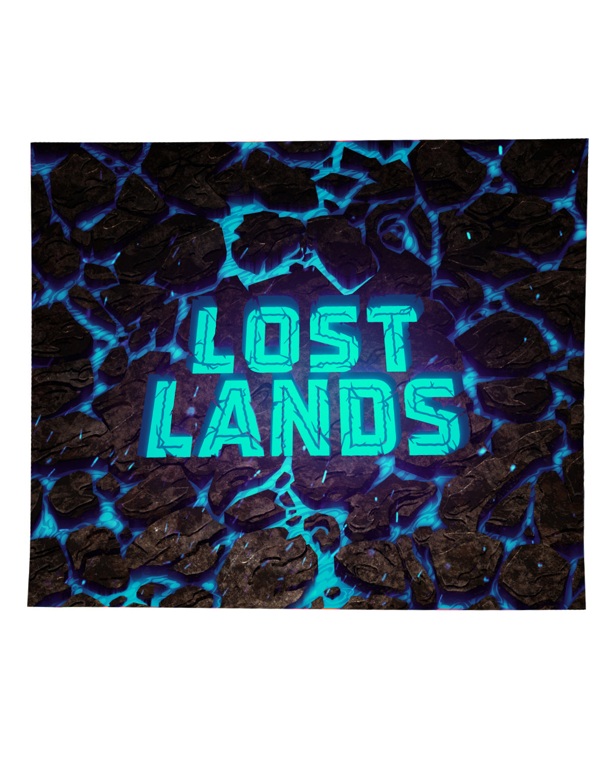 LOST LANDS 'WORDMARK MAGMA' BLANKET (BLUE)