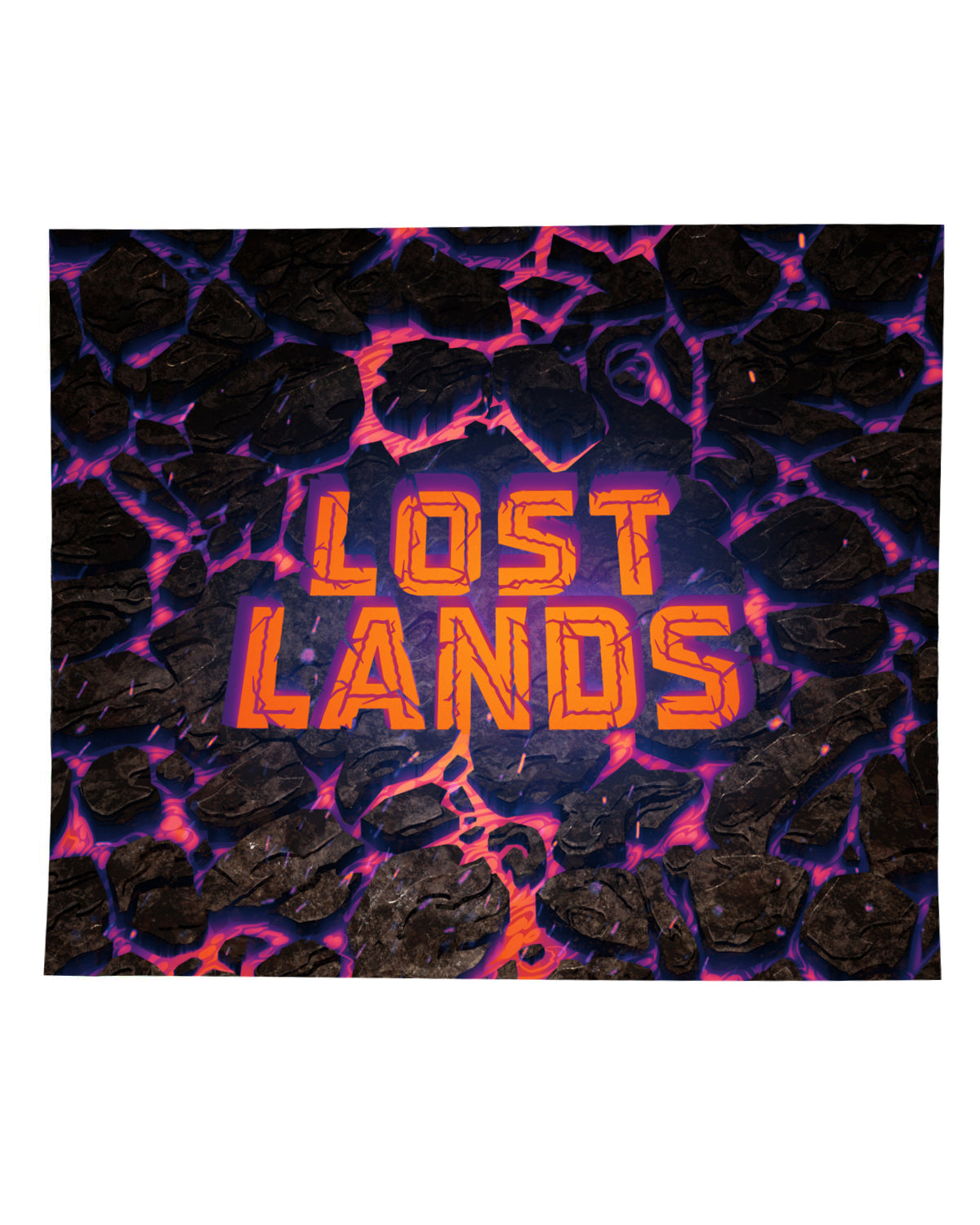LOST LANDS 'WORDMARK MAGMA' BLANKET (PURPLE)