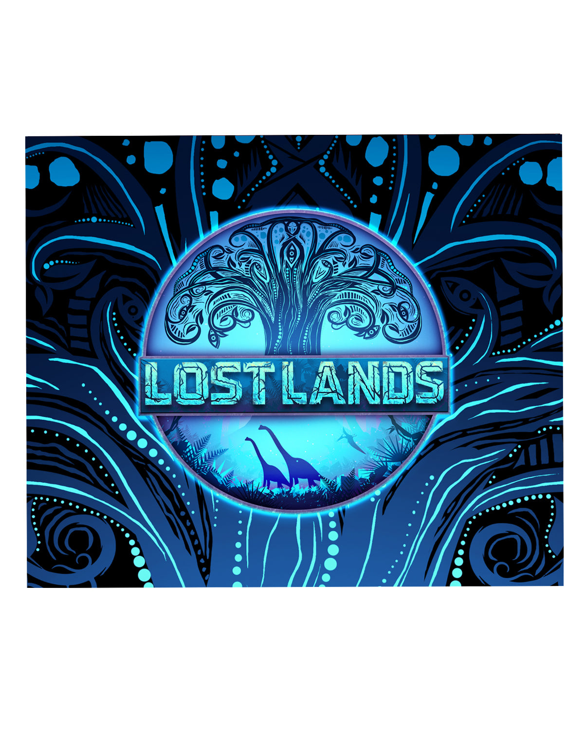 LOST LANDS 'TREE OF LIFE' BLANKET (BLUE)
