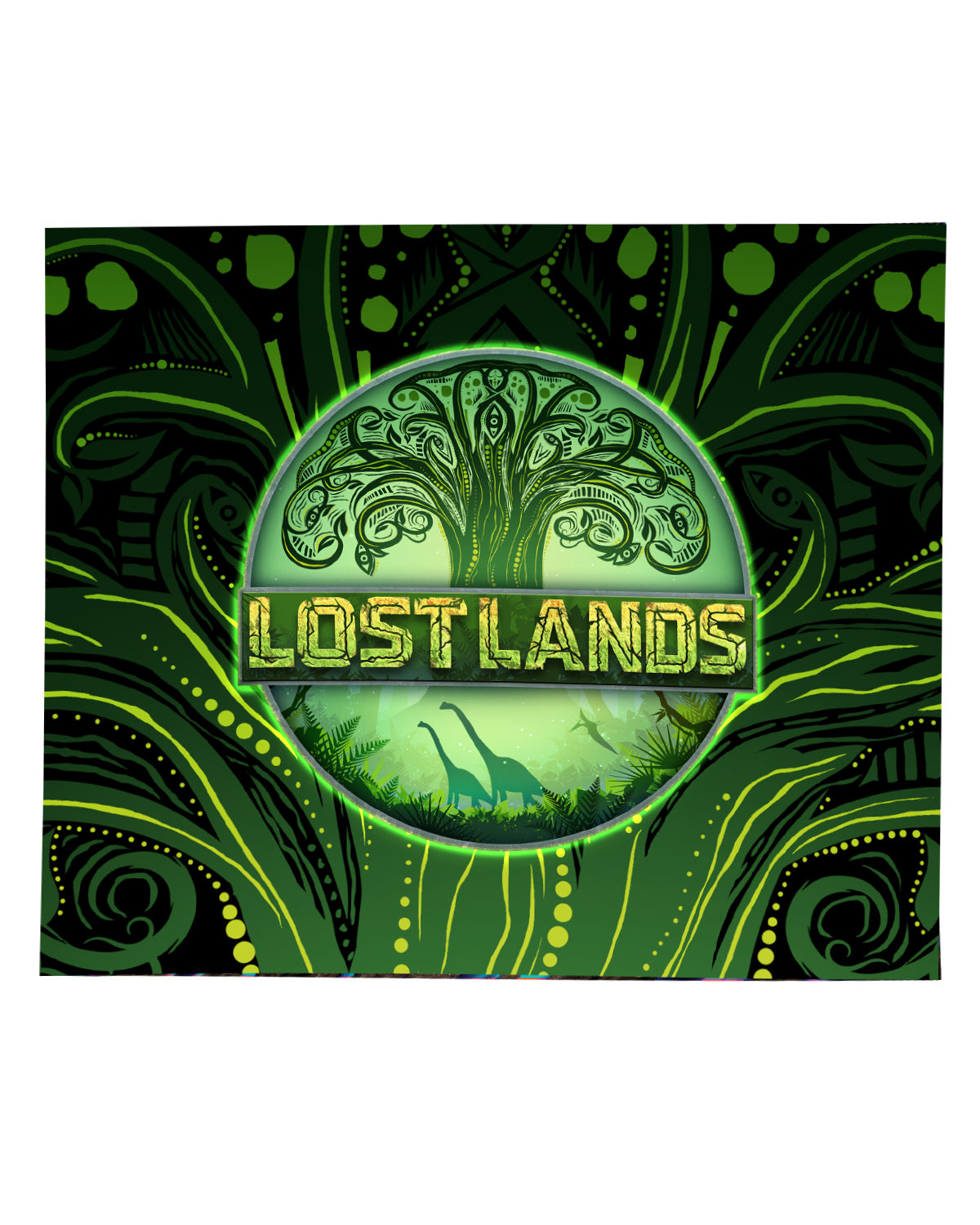 LOST LANDS 'TREE OF LIFE' BLANKET (GREEN)
