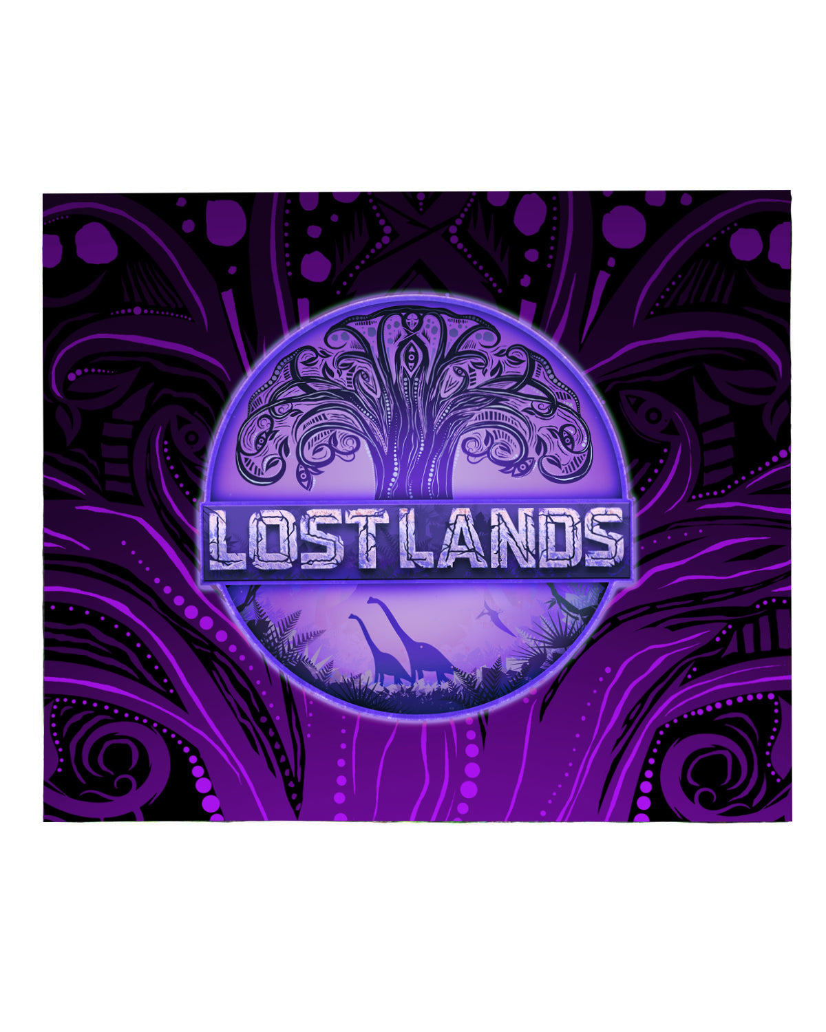 LOST LANDS 'TREE OF LIFE' BLANKET (PURPLE)