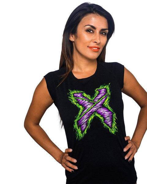 Excision Girls Zombie X Tee-Black-front