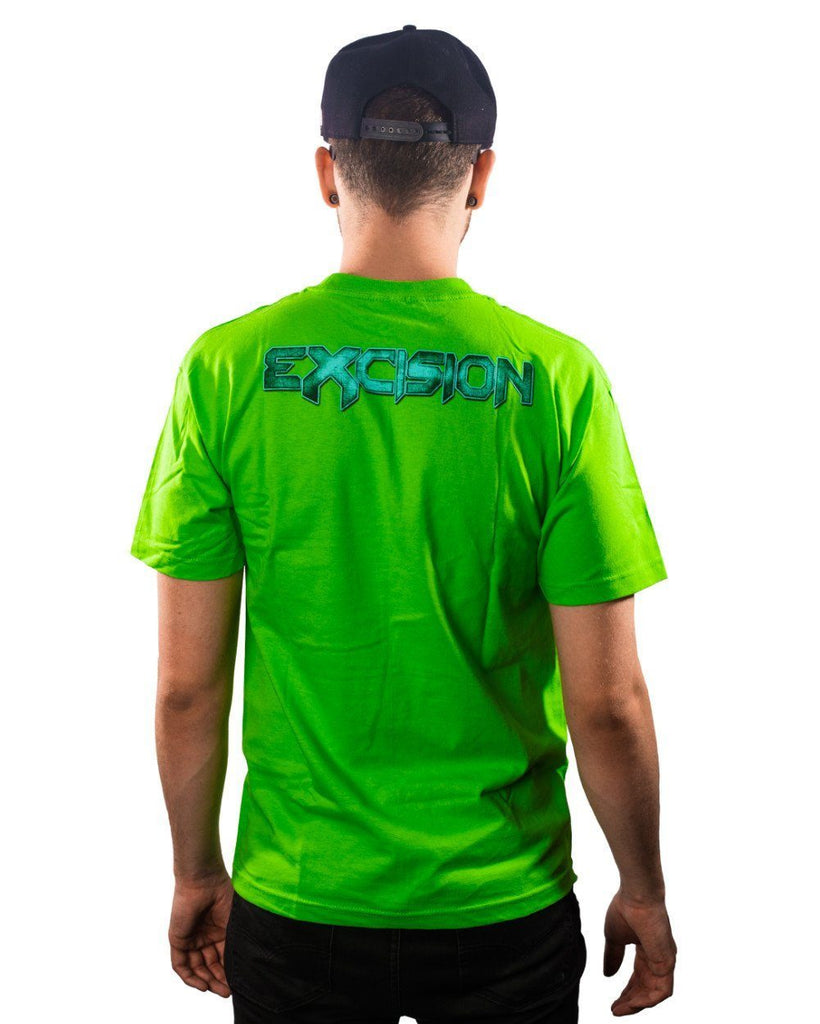 Excision Metal X Unisex Tee - Green/Blue