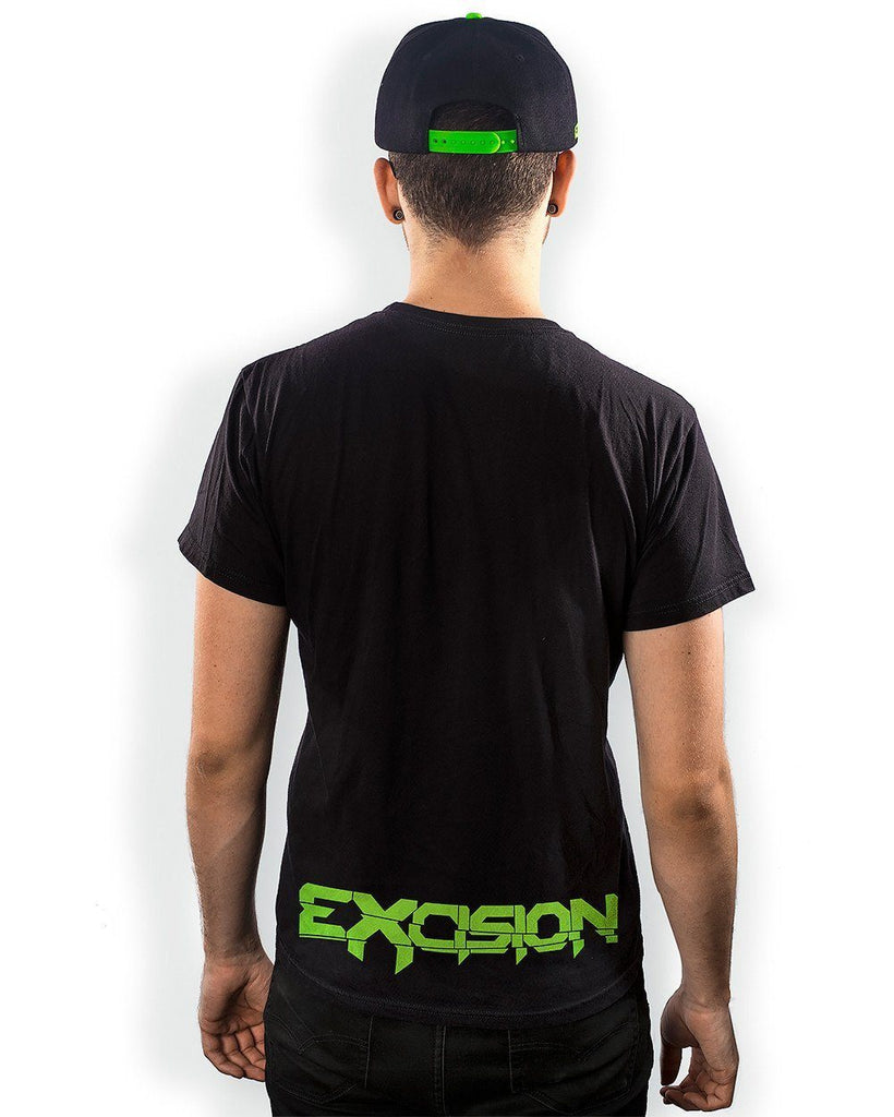 Excision X-Arms 2 Unisex T-Shirt - Black/Neon Green