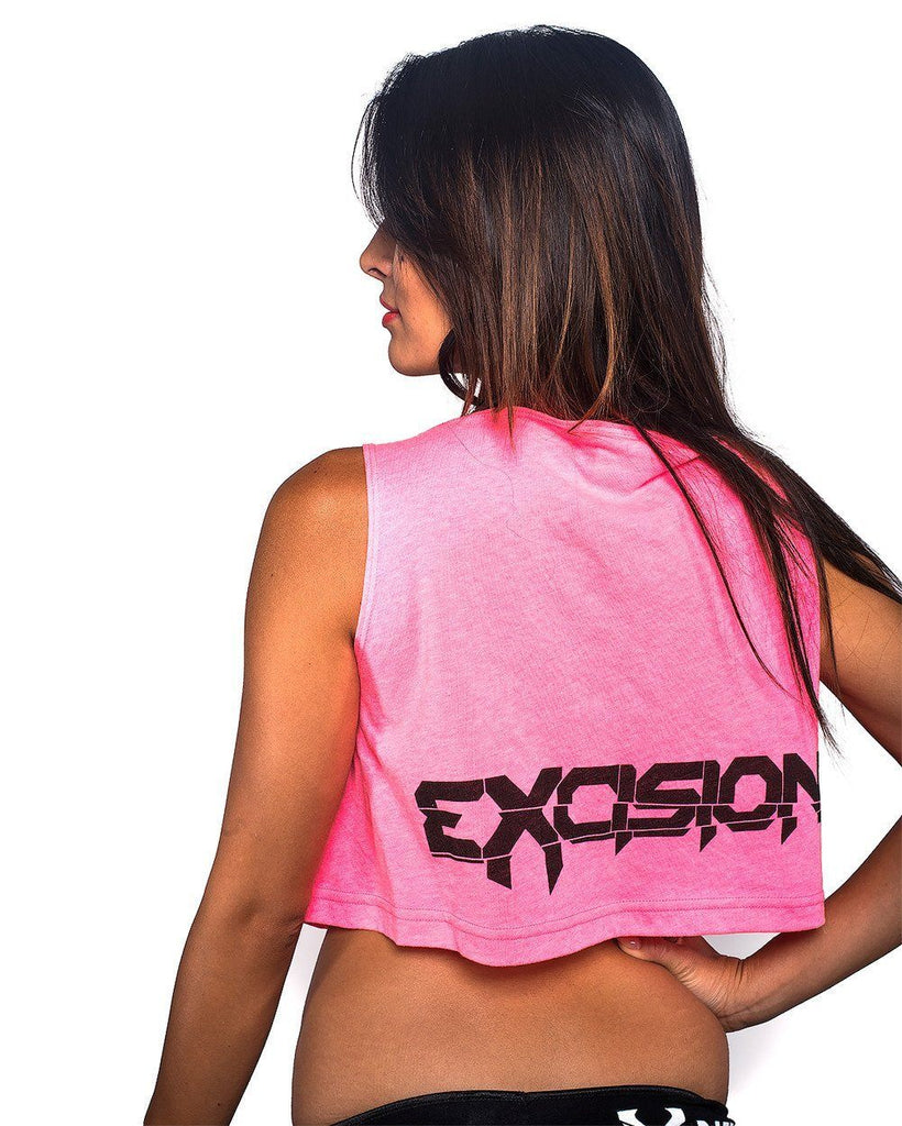 Excision X Rated Crop Top - Neon Pink