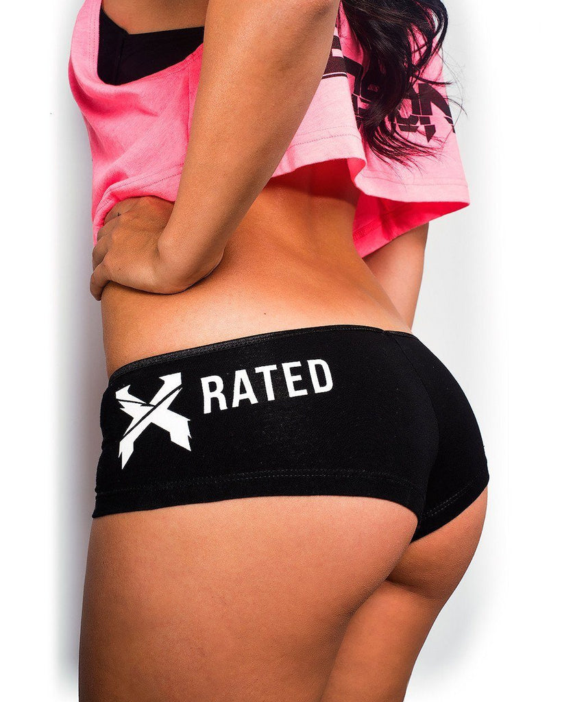 Excision Booty Shorts - Black/White