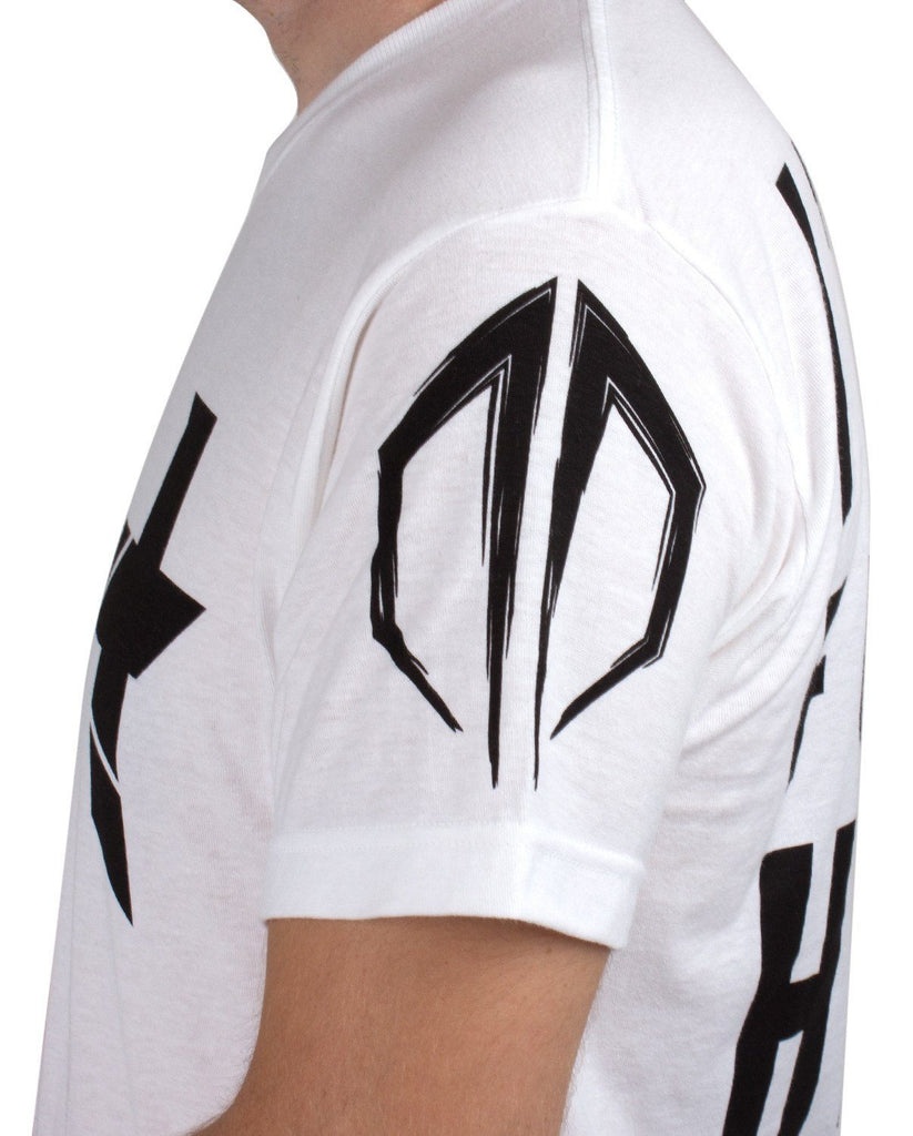 Excision 'Headbangers w/ Back Print' Unisex T-Shirt - White (Ships by Nov 7)