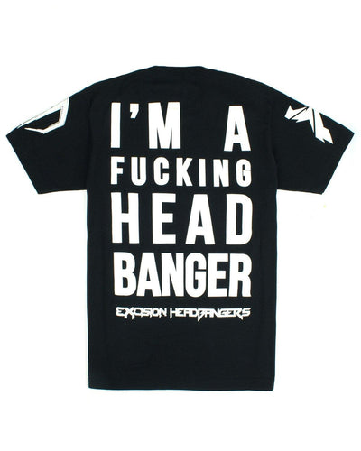 Excision 'Headbangers w/ Back Print' Unisex T-Shirt - Black