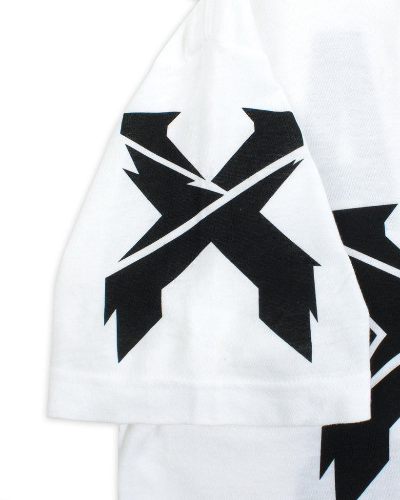 Excision 'Headbangers w/ Back Print' Unisex T-Shirt - White