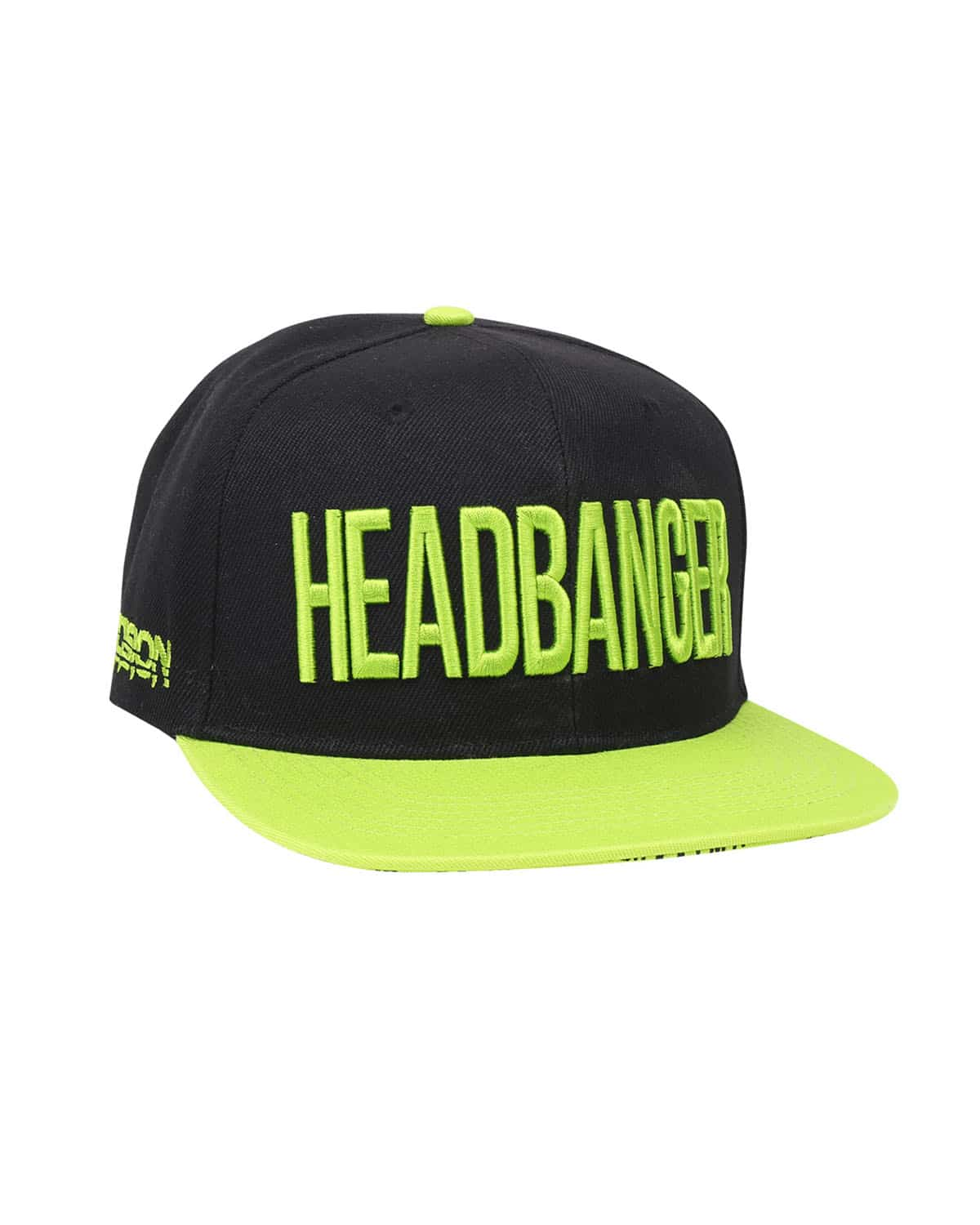 'Headbanger' Snapback - Black/Neon Green