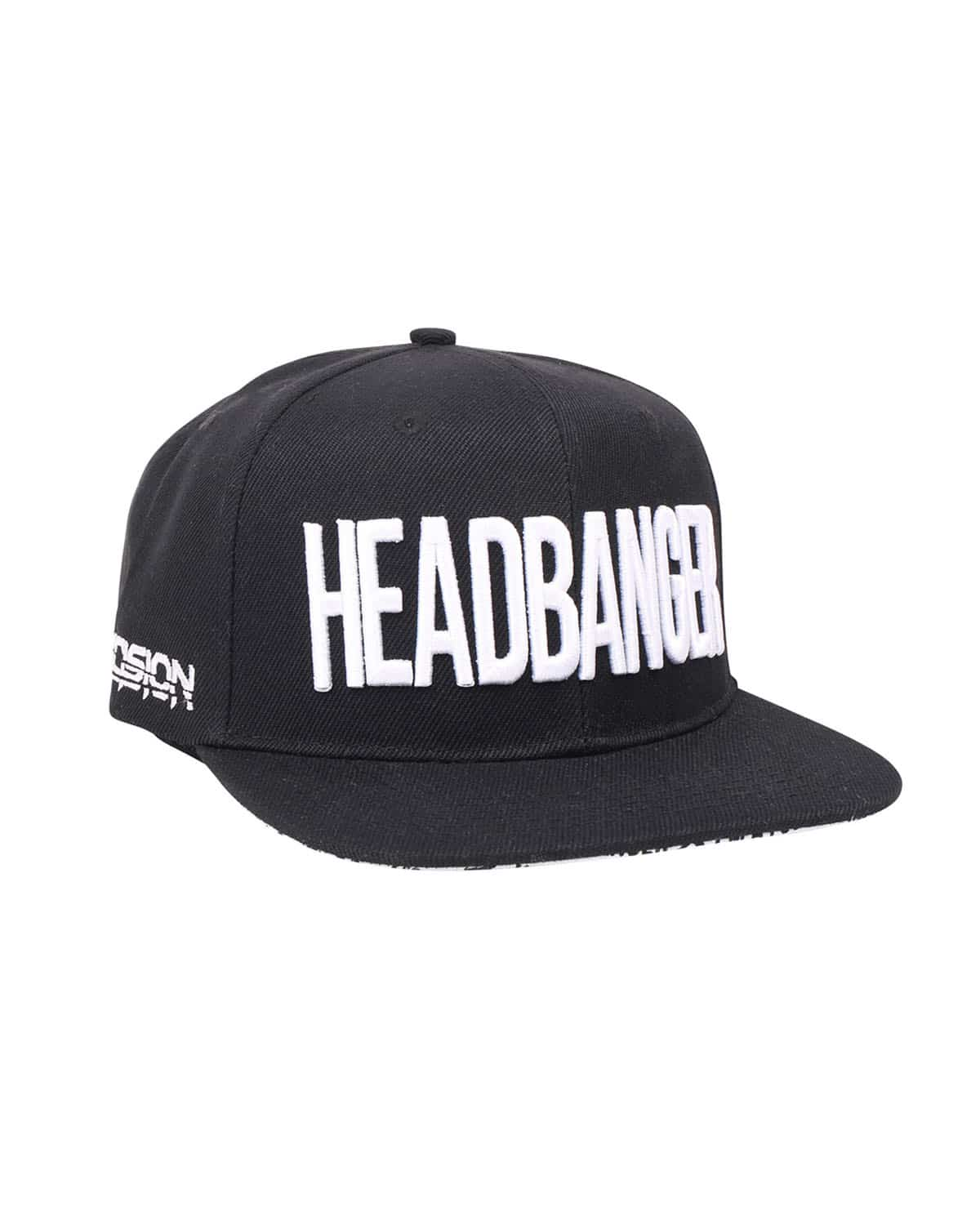 'Headbanger' Snapback - Black/White