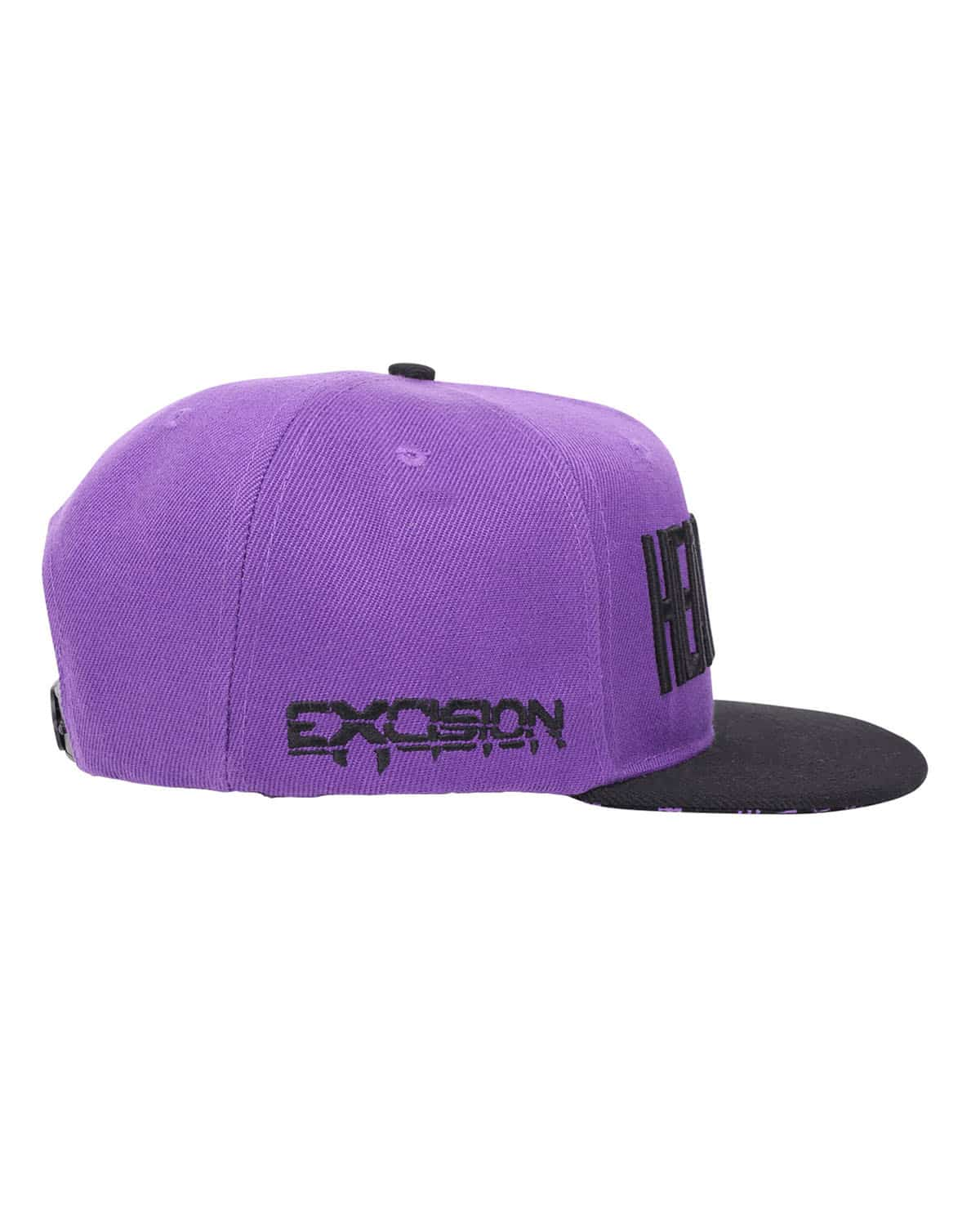 'Headbanger' Snapback - Purple/Black