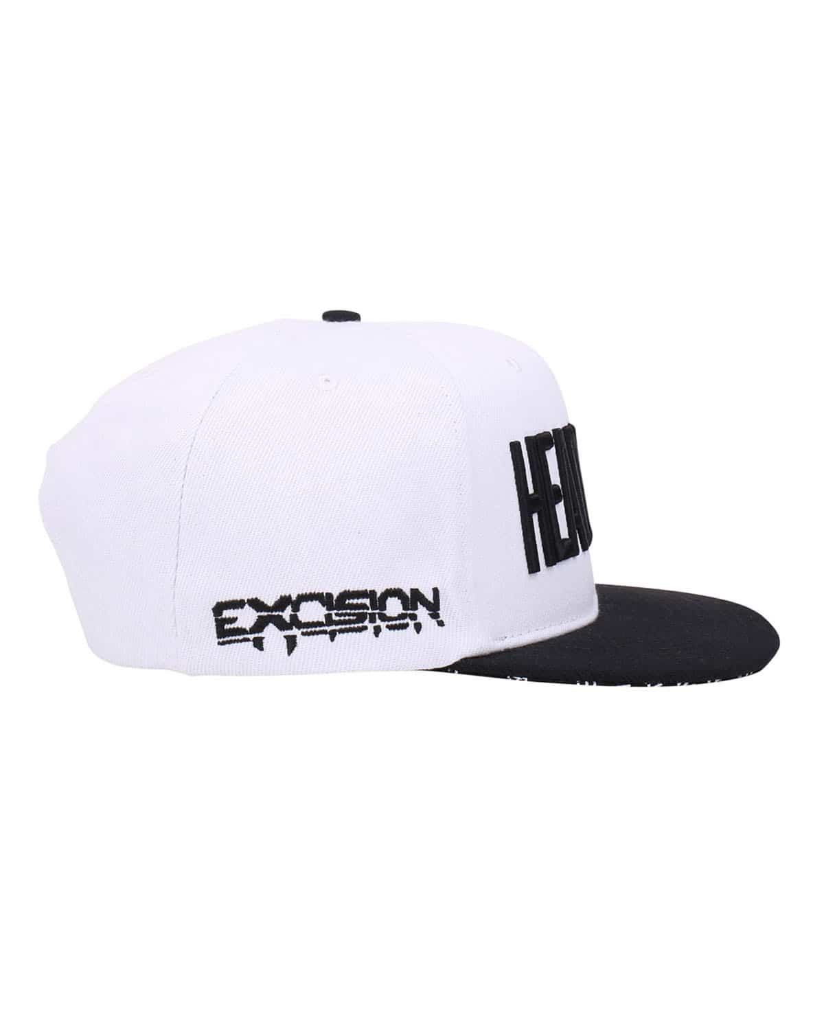 'Headbanger' Snapback - White/Black