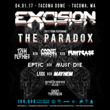 Excision 2017 Tour Featuring The Paradox - Tacoma, WA 04/01