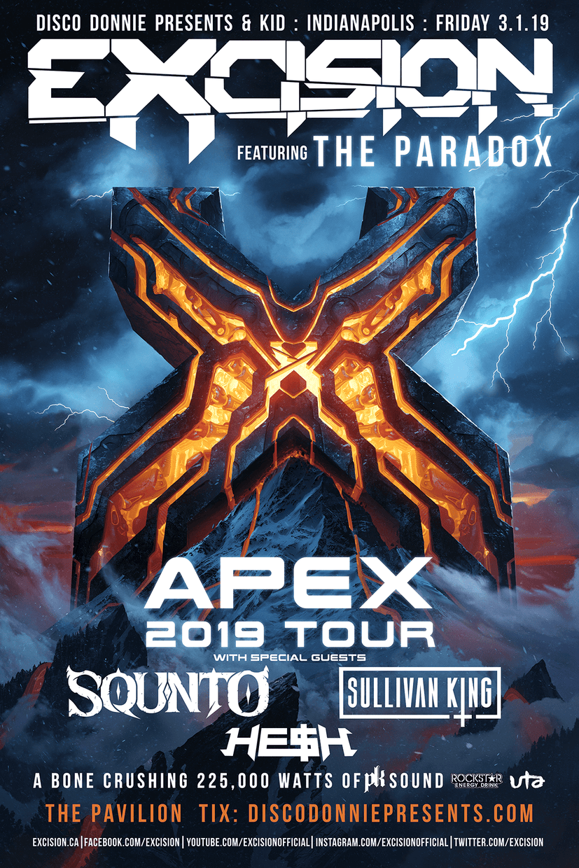 Excision APEX 2019 Tour - Indianapolis, IN - 03/01