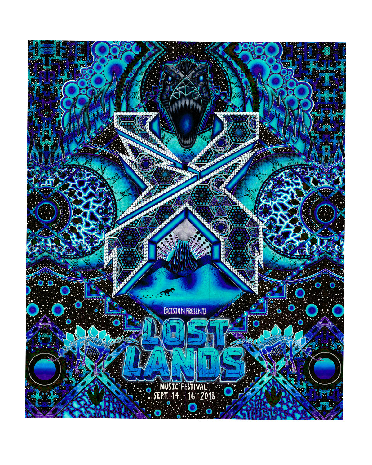 LOST LANDS 'JOURNEY' BLANKET (BLUE)