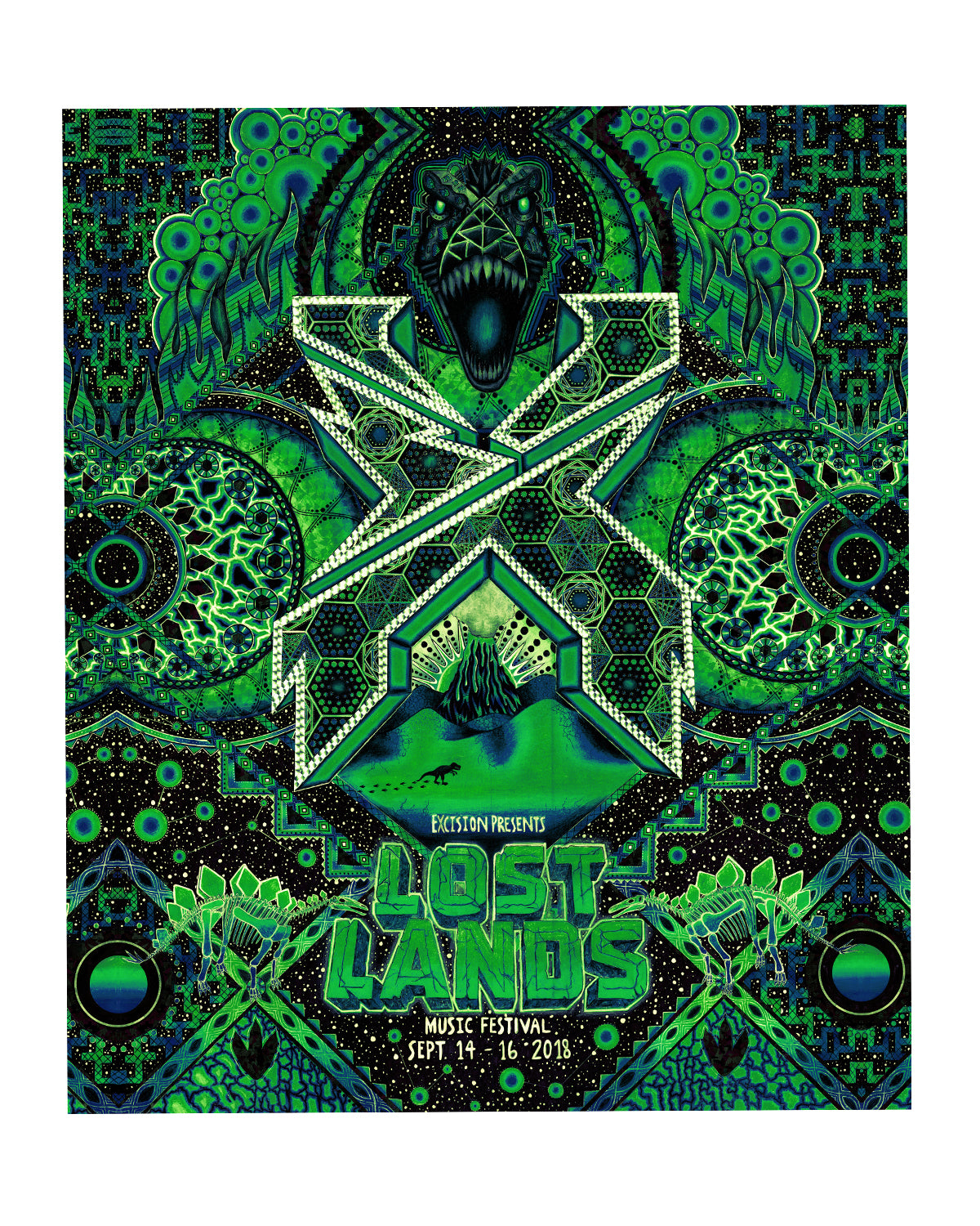 LOST LANDS 'JOURNEY' BLANKET (GREEN)