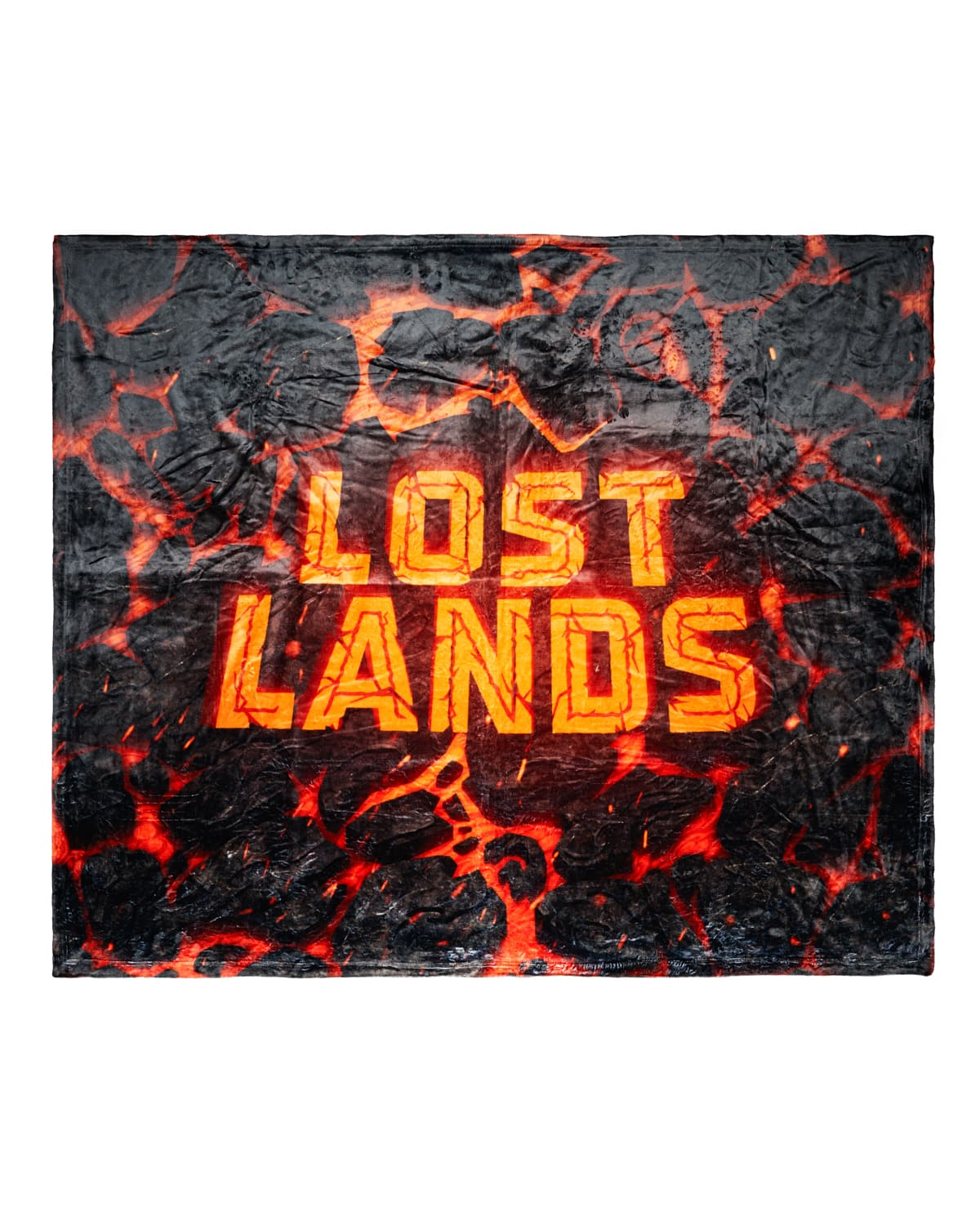 LOST LANDS 'WORDMARK MAGMA' BLANKET (Orange)