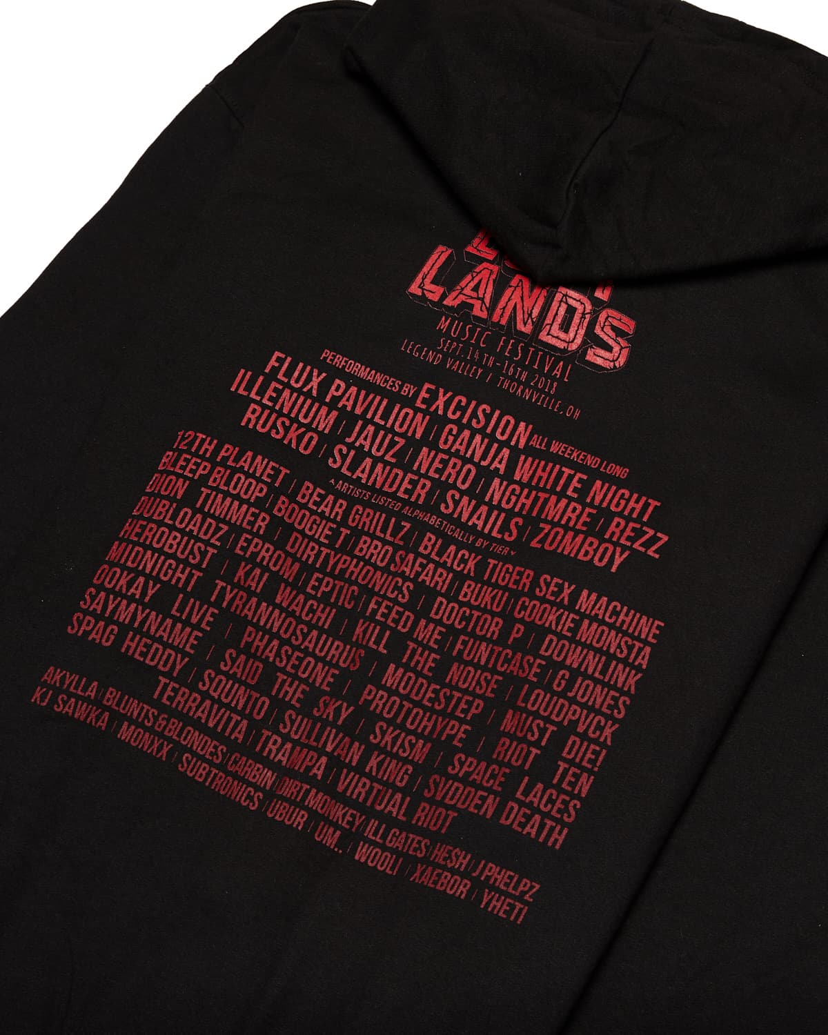 Lost Lands 2018 Lineup Full-Zip Hoodie - Black/Red