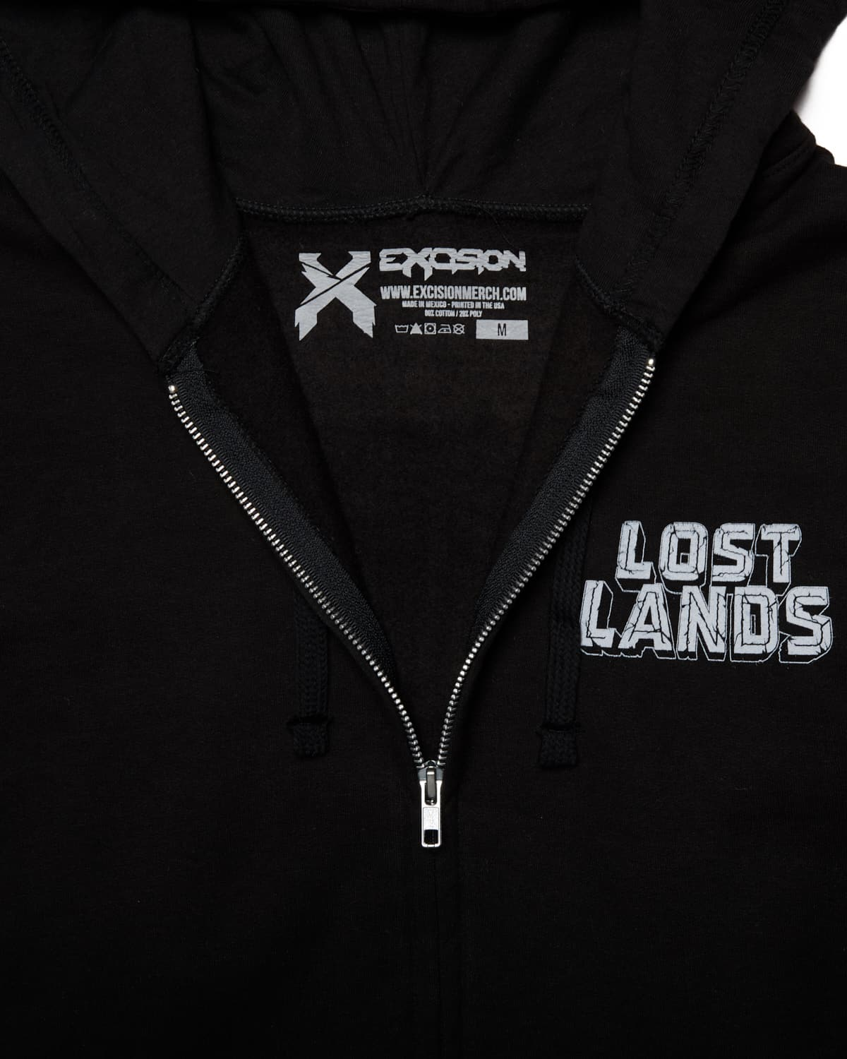 Lost Lands 2018 Lineup Full-Zip Hoodie - Black/White
