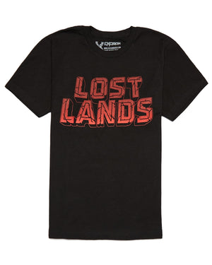Lost Lands 2018 Lineup T-Shirt - Black/Red