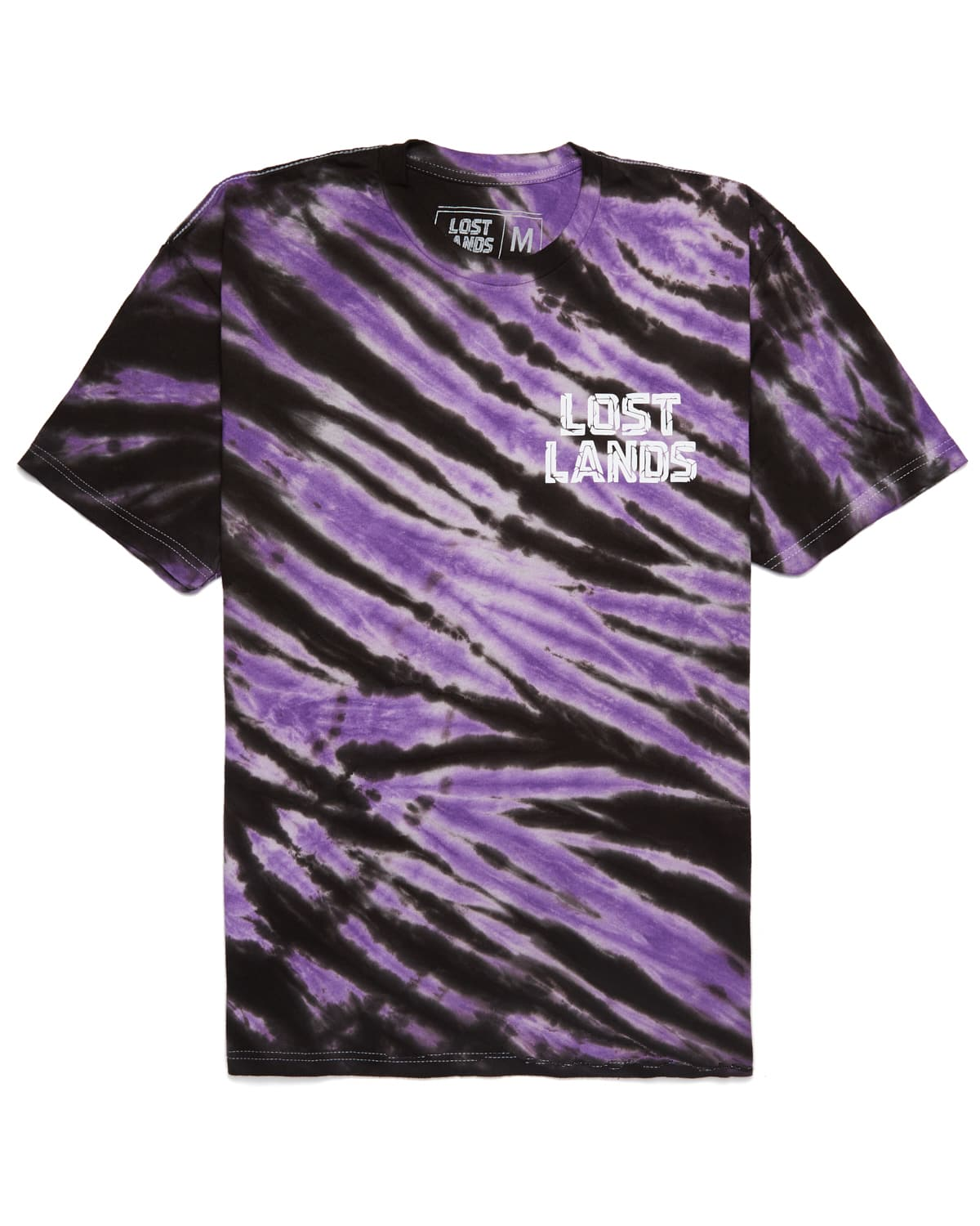 Lost Lands 'Slashed' Tie Dye T-Shirt (Purple)