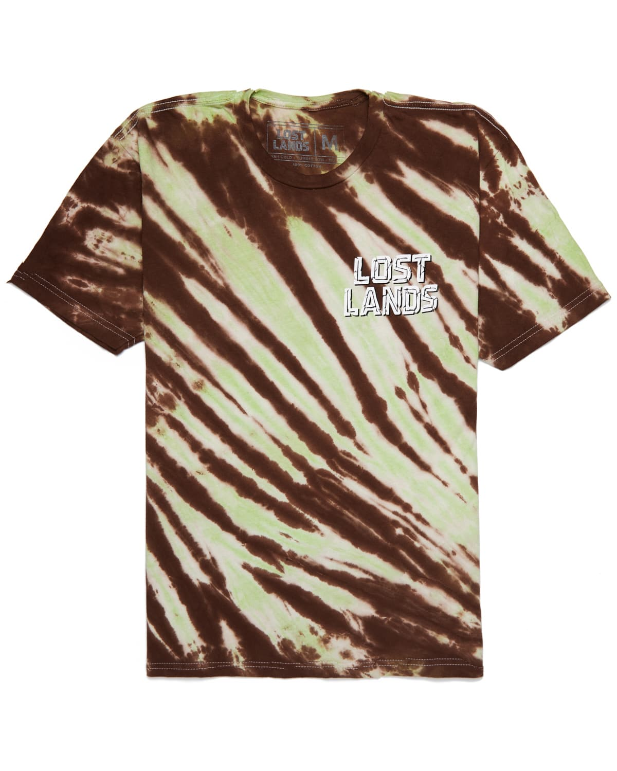 Lost Lands 'Slashed' Tie Dye T-Shirt (Green)