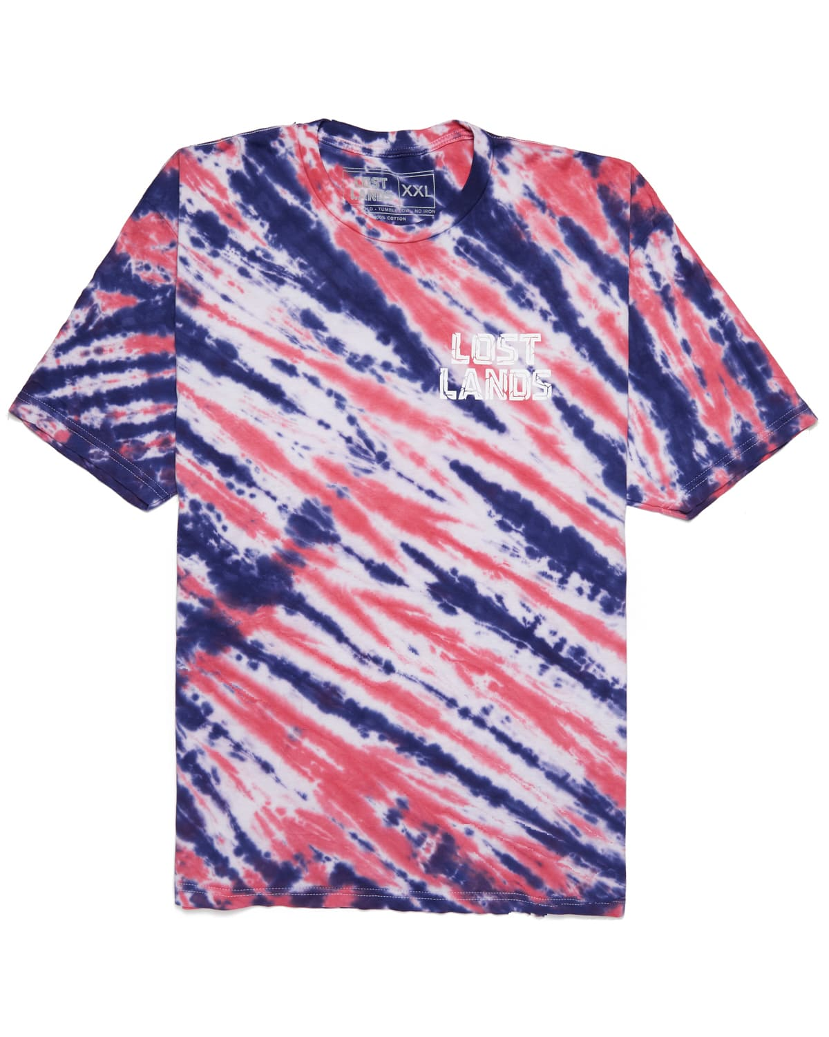 Lost Lands 'Slashed' Tie Dye T-Shirt (Red)