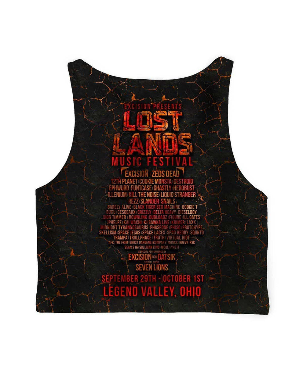 Lost Lands All Over Print Crop Top - Ember