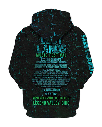 Lost Lands All Over Print Hoodie - Blue