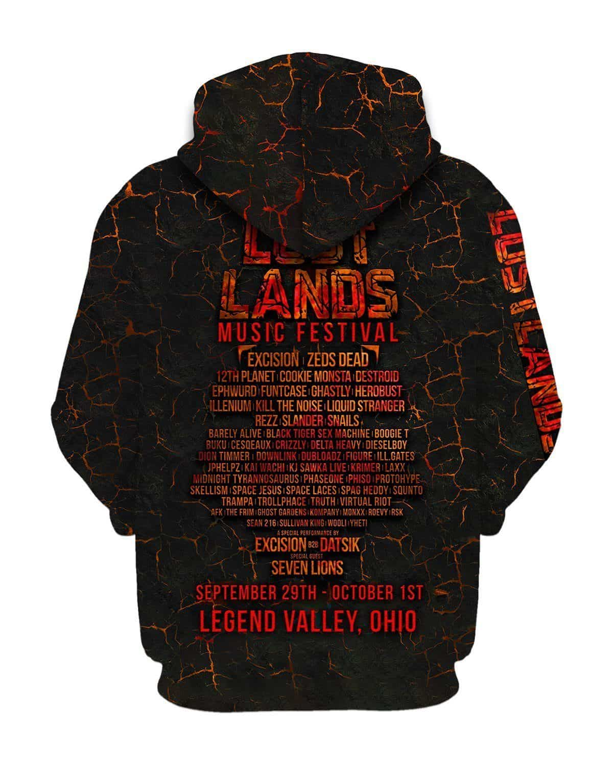 Lost Lands All Over Print Hoodie - Ember