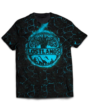 Lost Lands All Over Print T-Shirt - Blue
