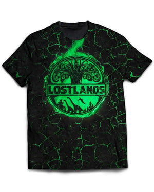 Lost Lands All Over Print T-Shirt - Green