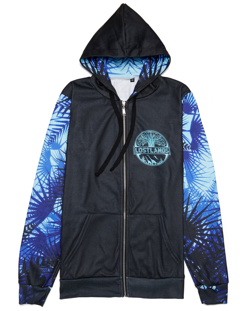 Lost Lands 'Foliage' Lineup Full-Zip Hoodie - Black/Blue