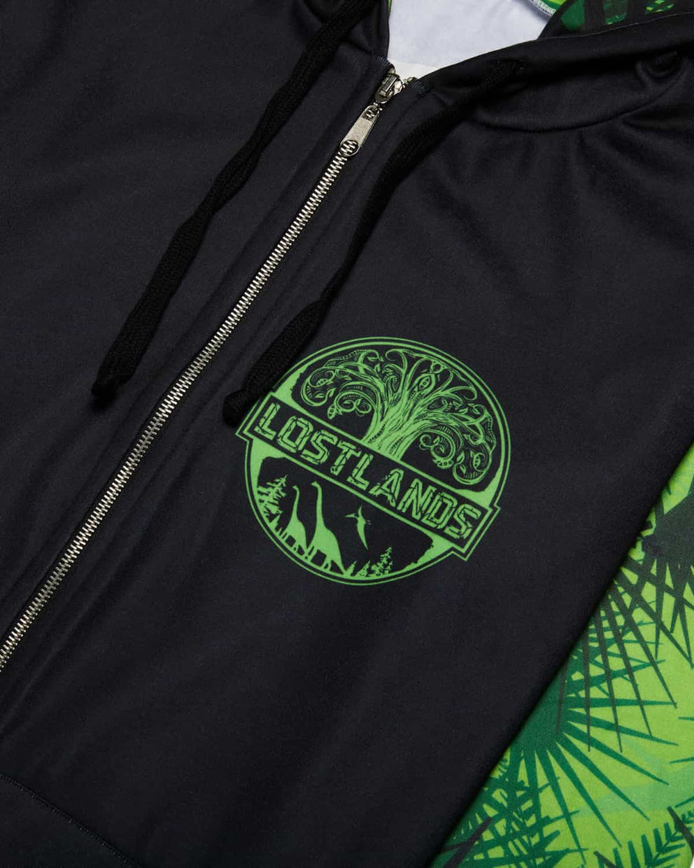 Lost Lands 'Foliage' Lineup Full-Zip Hoodie - Black/Green