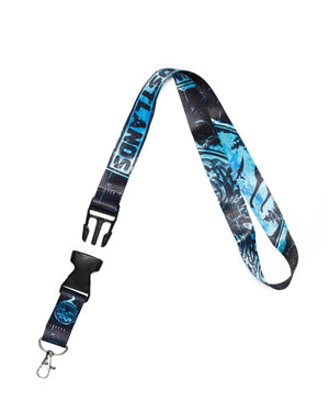 Lost Lands Lanyard (Black/Blue)