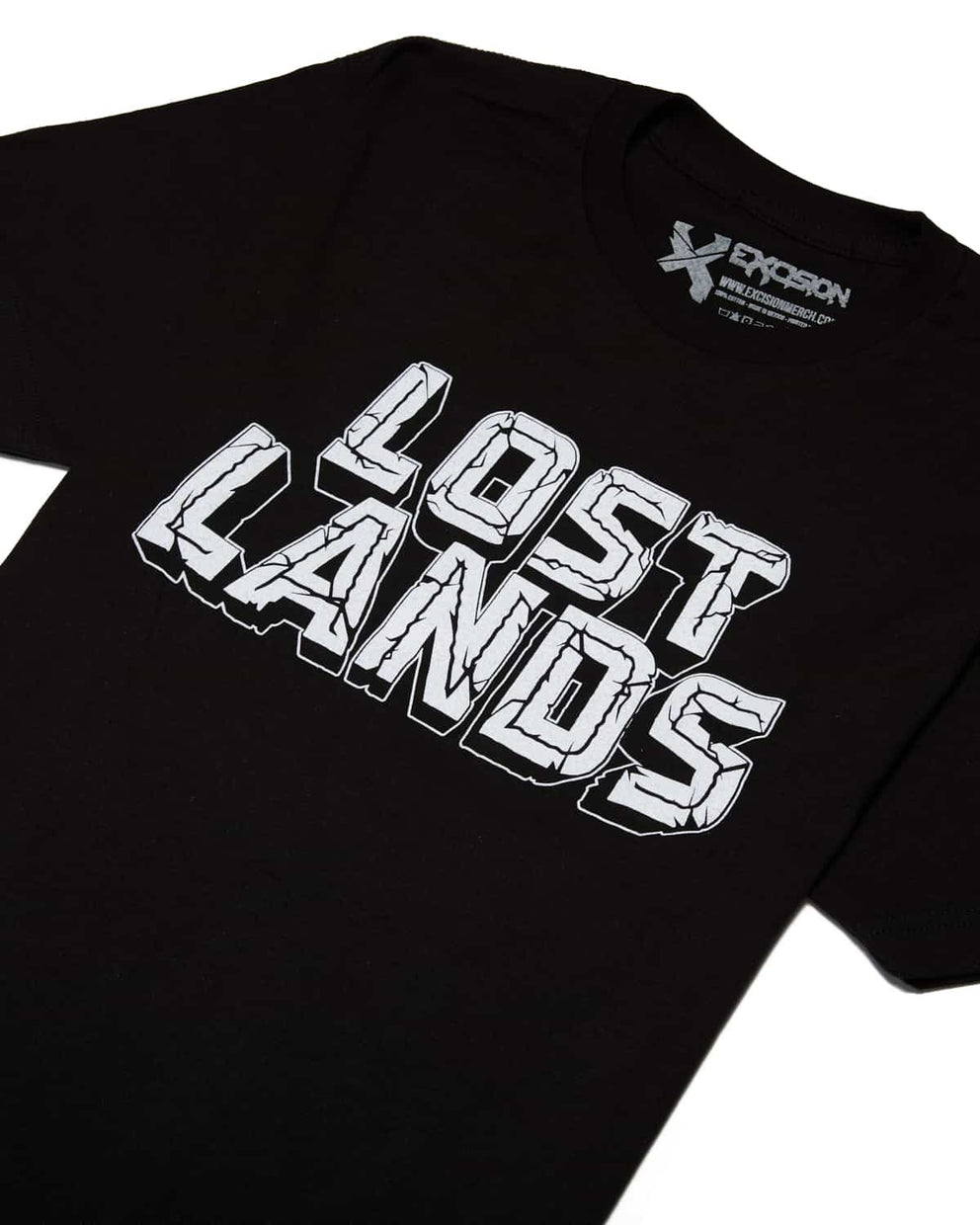 Official Lost Lands 2018 Lineup T-Shirt (Black/White)