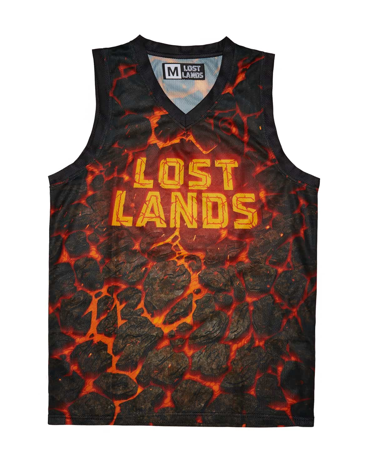 Lost Lands 'Magma' Basketball Jersey - Black/Red