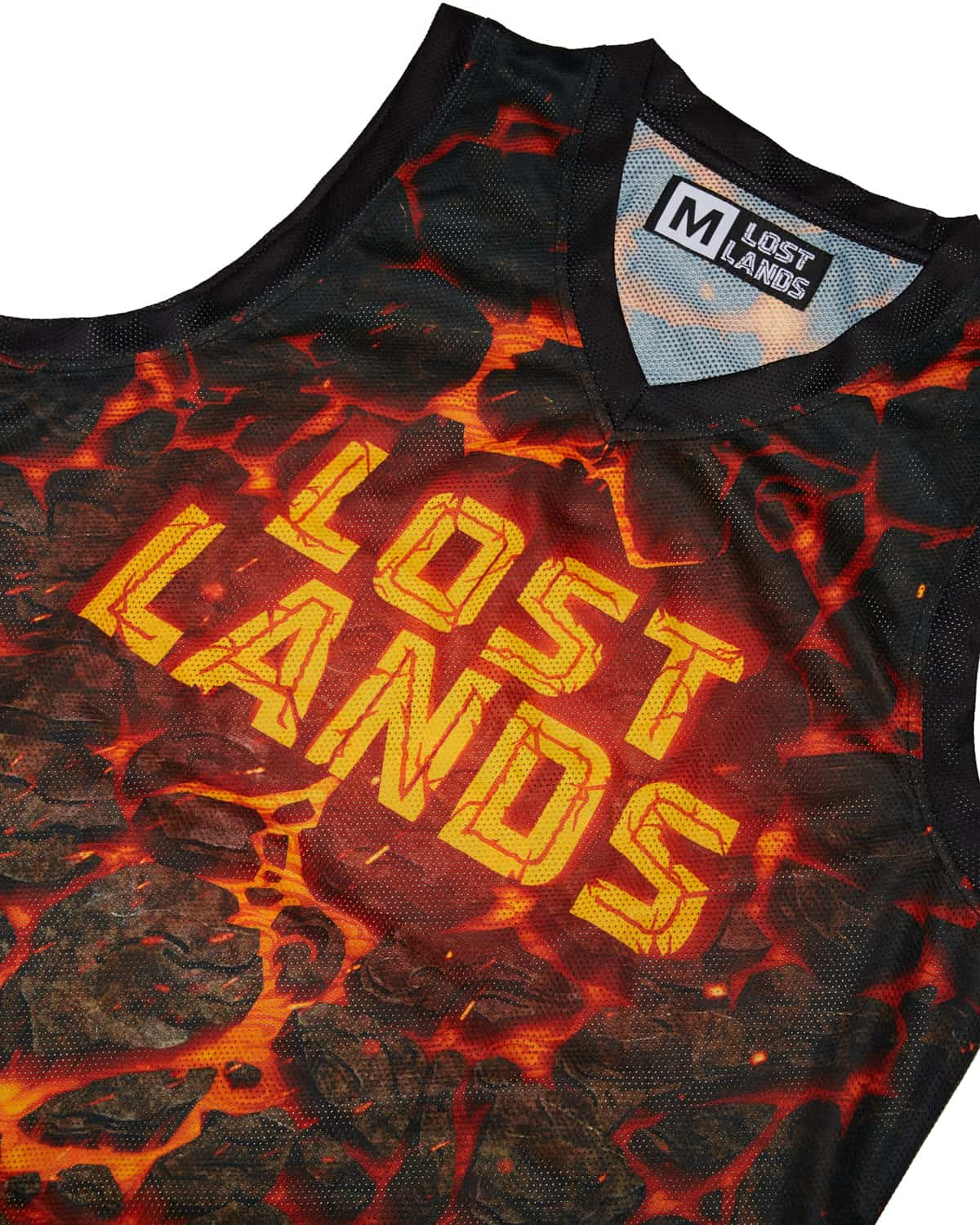 Lost Lands 2018 'Magma' Basketball Jersey - Black/Red