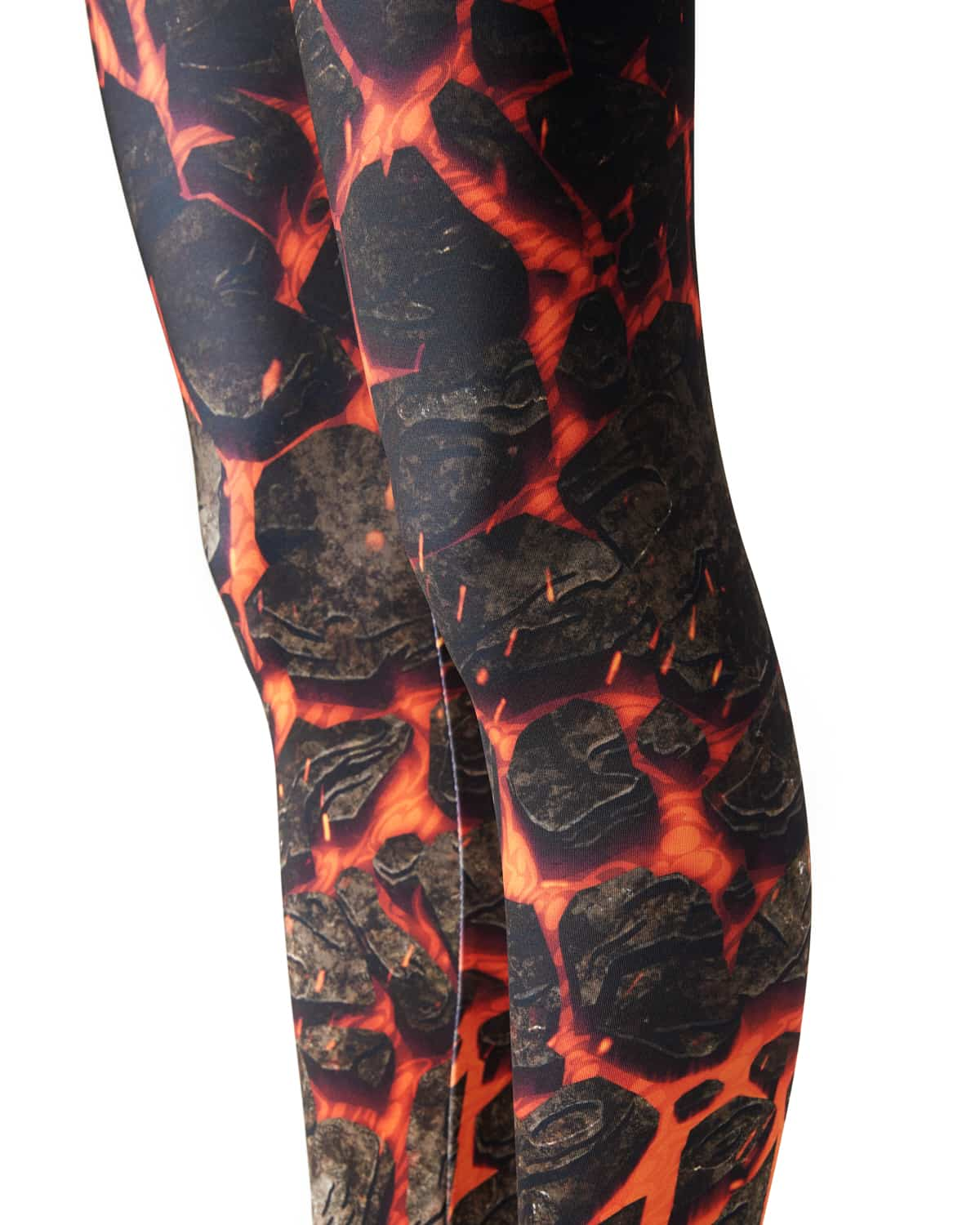 Lost Lands 'Magma' Leggings (Orange)