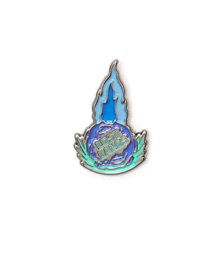 'Meteor' Enamel Pin - Blue/Teal